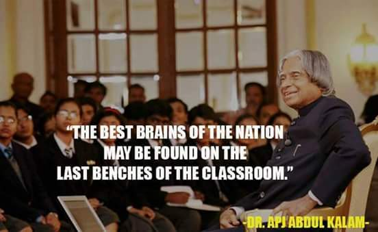 Abdul kalam comment on last benches students