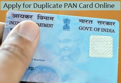 Apply for Duplicate Pan Card Online