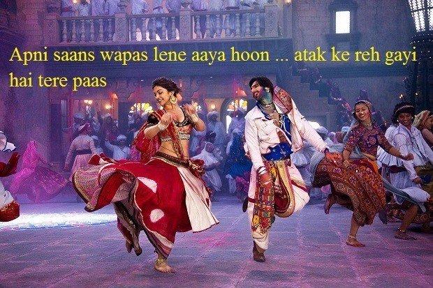 Ranveer Singh fabulous dialogues from movie Goliyon Ki Raasleela Ram-Leela